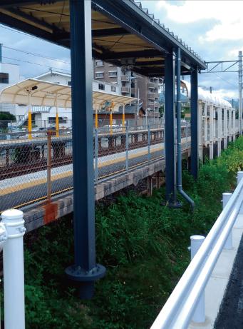 大分県暘谷駅上屋